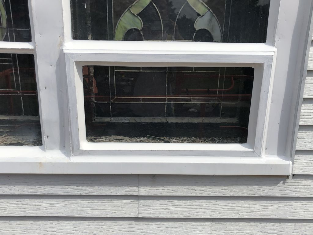 1906 Church window restoration