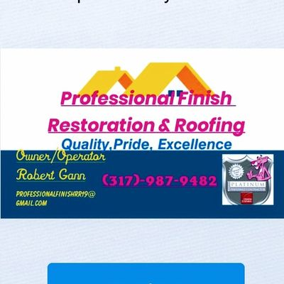 Avatar for Professional Finish Restoration & Roofing New Palestine, IN Thumbtack