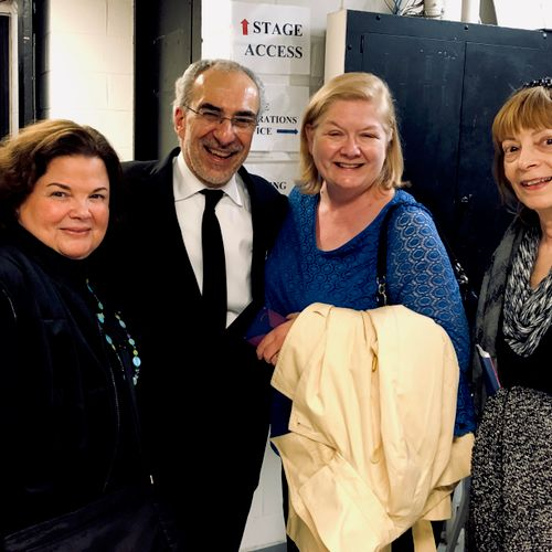 NYCO colleagues with Maestro Joe Colaneri at Juilliard