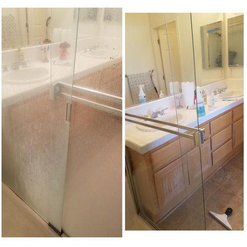 Shower door transformation!