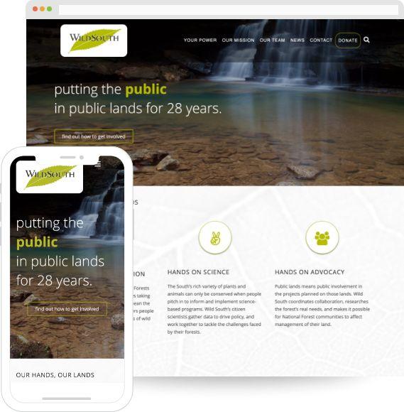 Wild South Website Re-Design