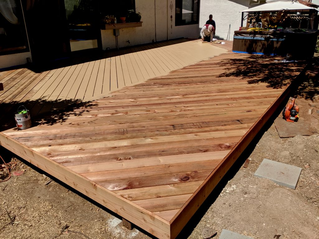 Extended the deck
