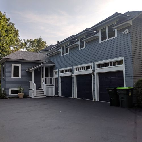 after: house painted in Dedham, MA