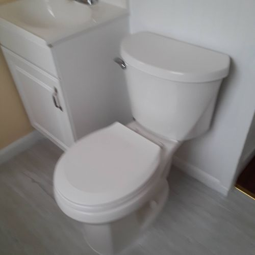 Installation of toilet