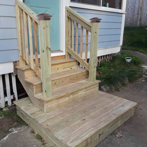 Construccion of Stairs, Deck
