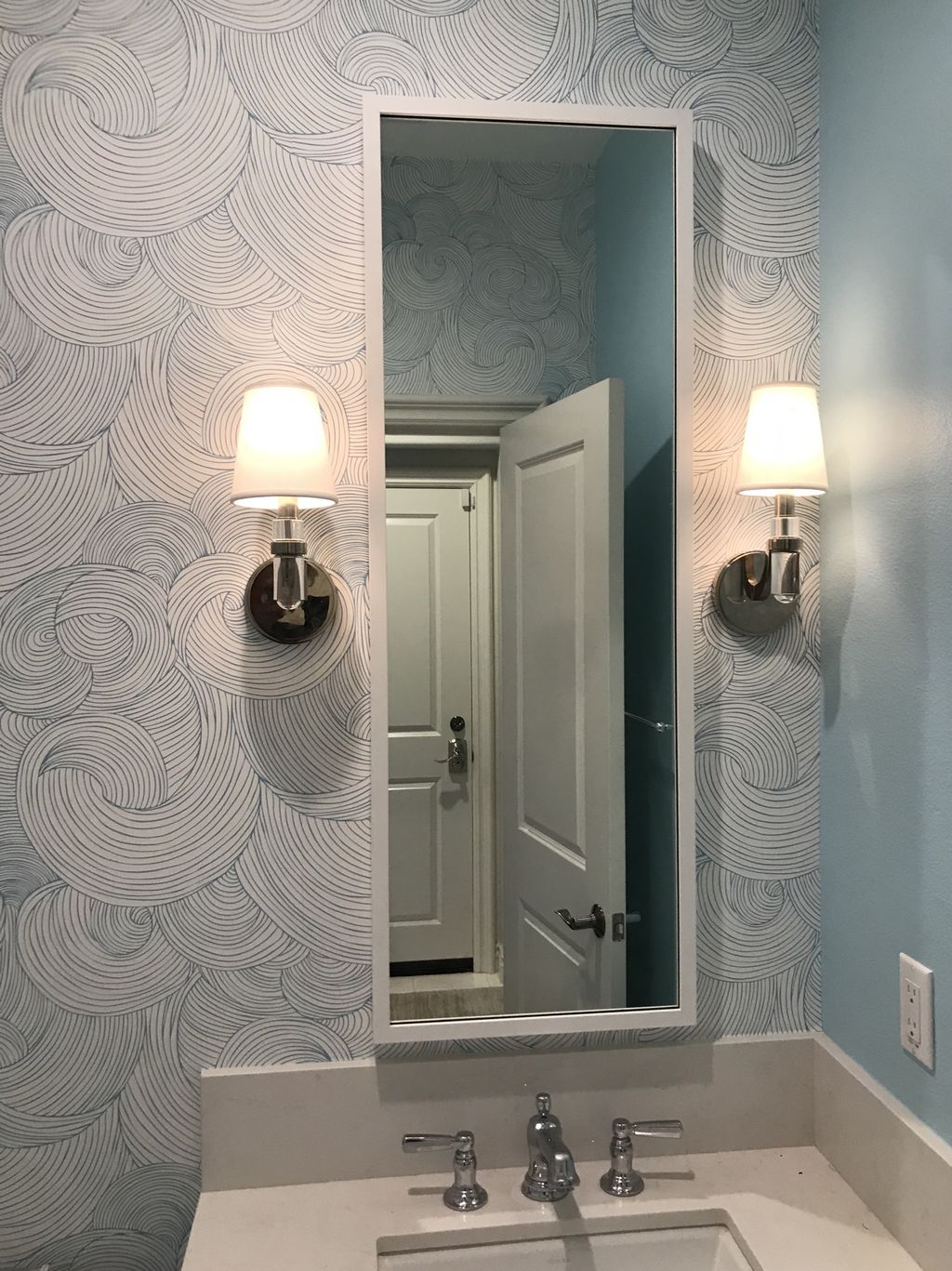 Sconce & Mirror Installation