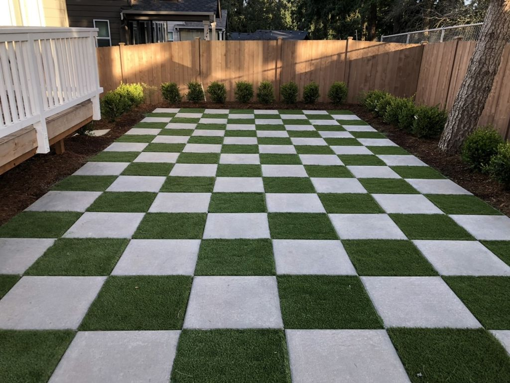 Checkerboard Backyard