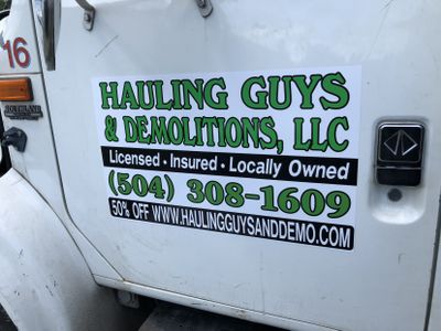 Hauling Guys & Demolitions LLC Metairie, LA Thumbtack