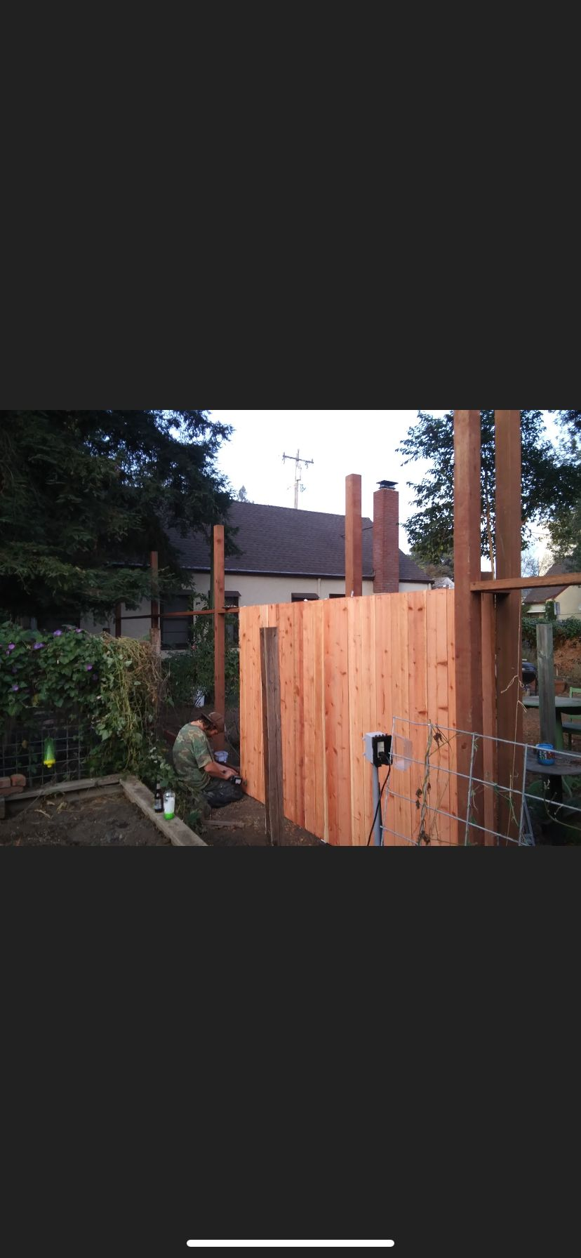 6'Staggered Fence with Privacy Lattice