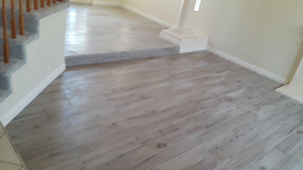 Ash Wood Porcelain Tile & Baseboard