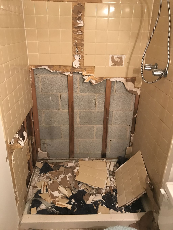 Bathroom wall tiling