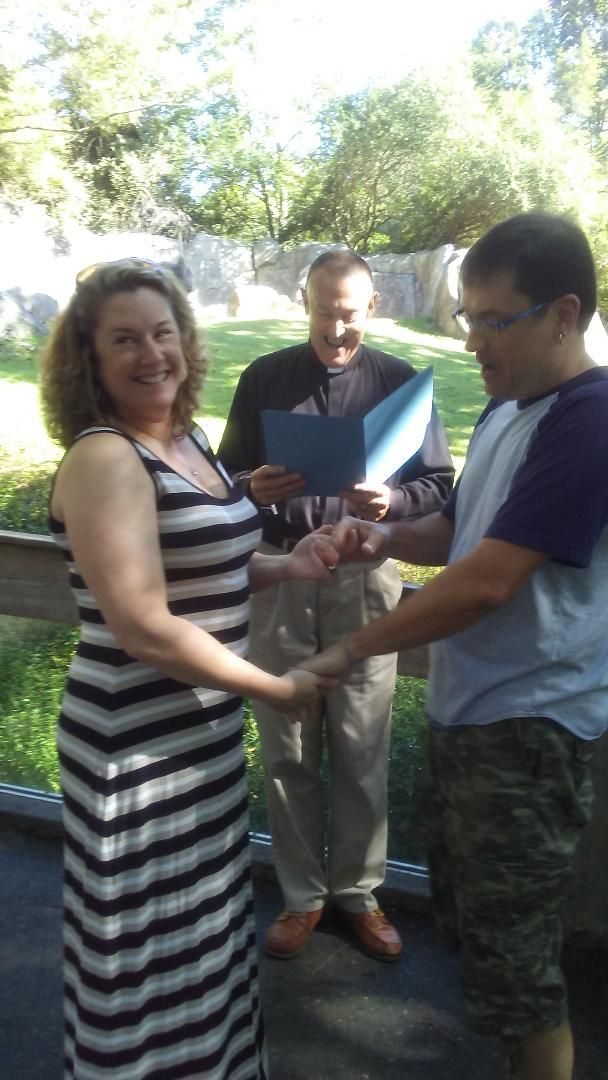 Wedding Officiant  NC Zoo Vow renewal 8-31-19