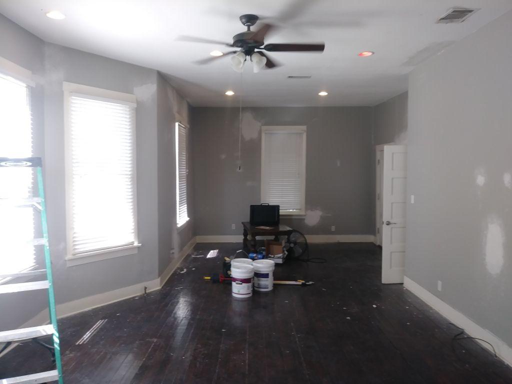 Paint,re deck floors,install vinyl plank