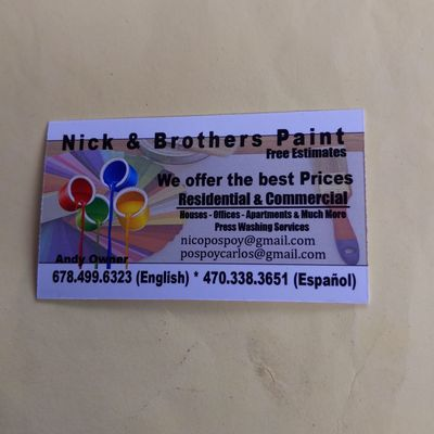 Avatar for Nick & brothers paint Norcross, GA Thumbtack
