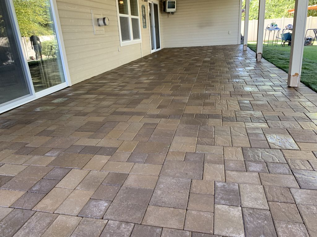 Concrete removal, Paver Patio installed