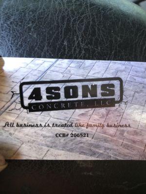 Avatar for 4Sons Concrete LLC Portland, OR Thumbtack