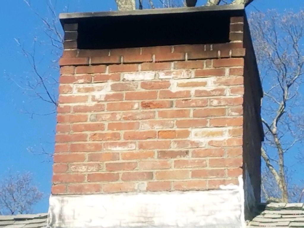 Spalled Chimney Brick Rebuild
