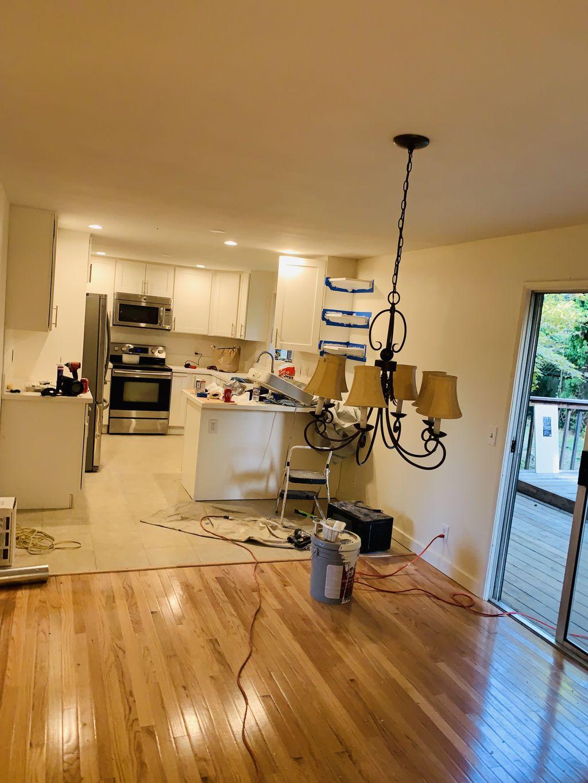 New oak floor on Eugene house