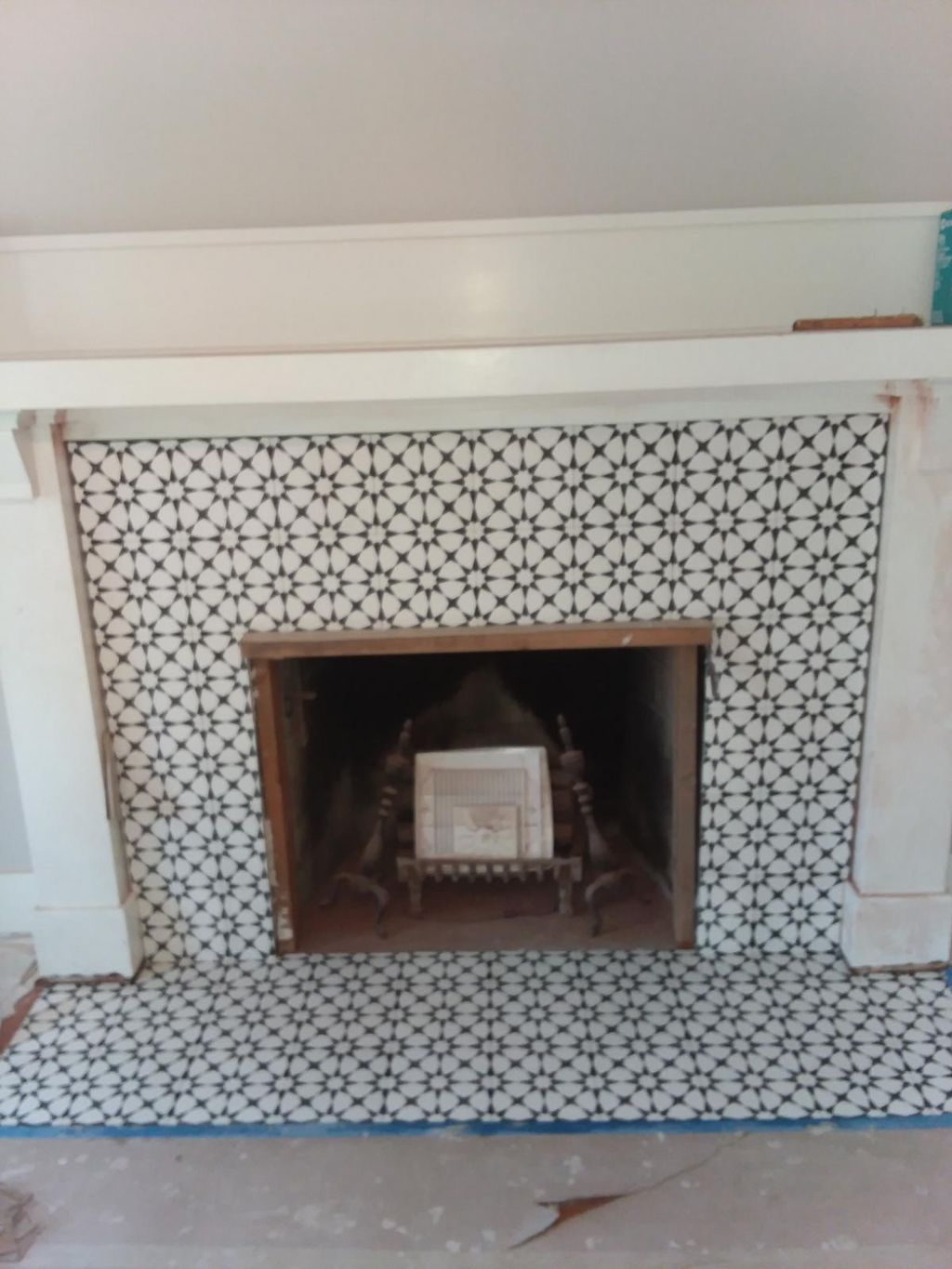 Fireplace on Broadway district