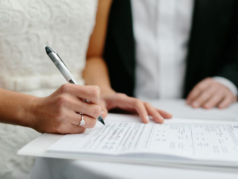 Blink of an Eye - Marriage License Signing
