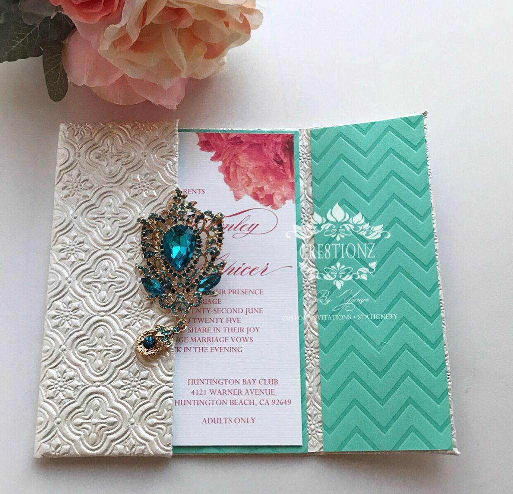 Custom Invitations and Folio
