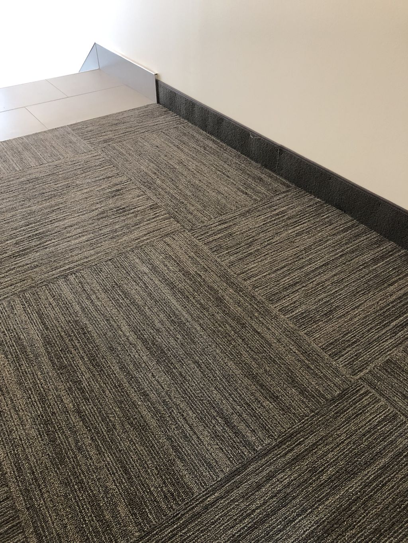 Floor, steps, baseboards