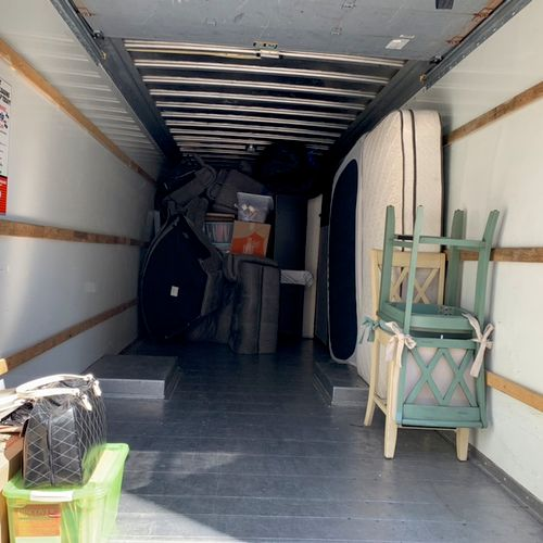 Loading Uhaul moving near by