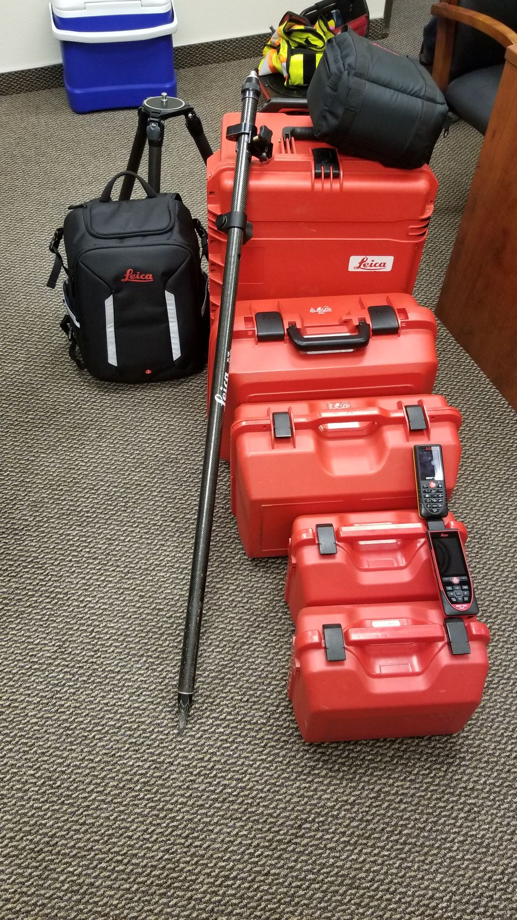 State of the art surveying equipment