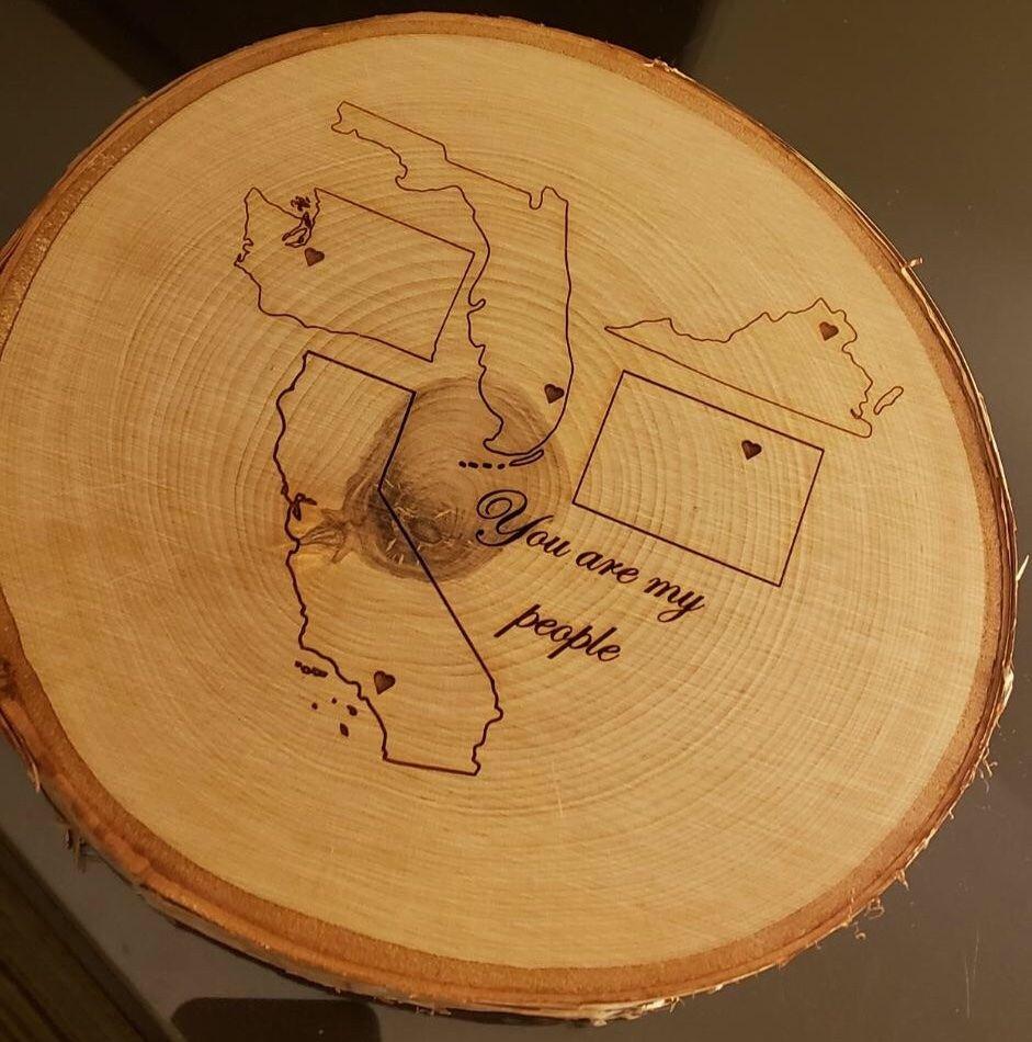 Wood Slice Engraving