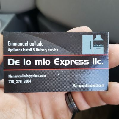 Avatar for De lo mío express  Appliances installations