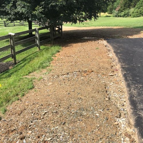 Before: Dirt and rocks, very bad erotion happening.