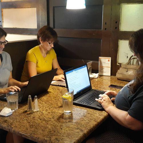 Editors Rebecca, Linda, and Shannin