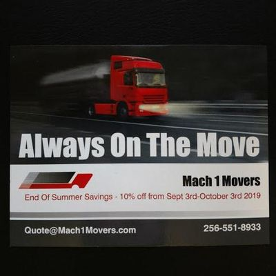 Avatar for Mach 1 Movers Huntsville, AL Thumbtack