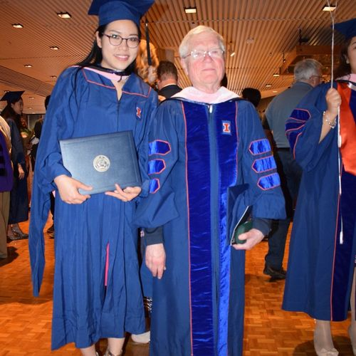 At my master's degree graduation with my professor