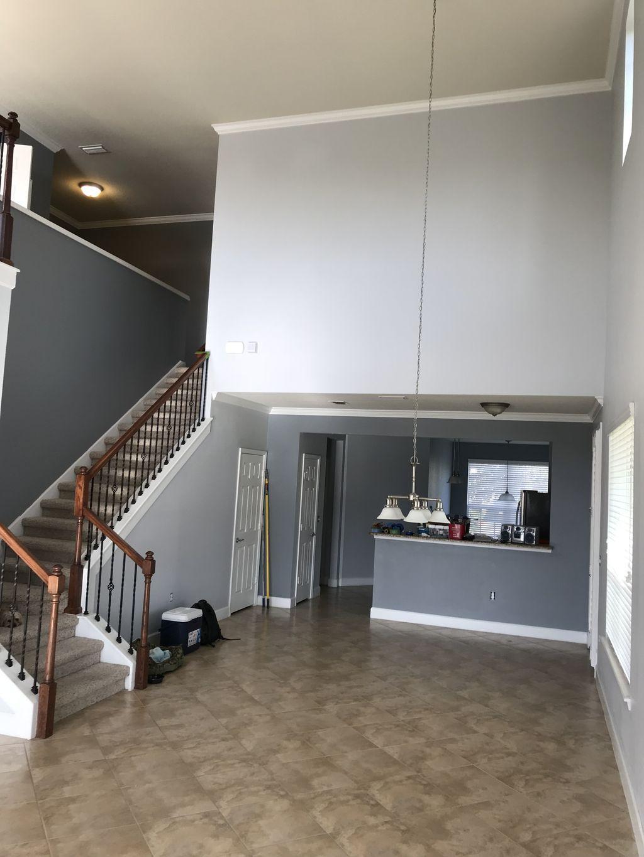 Walls, baseboard, frames, trims, doors, closet