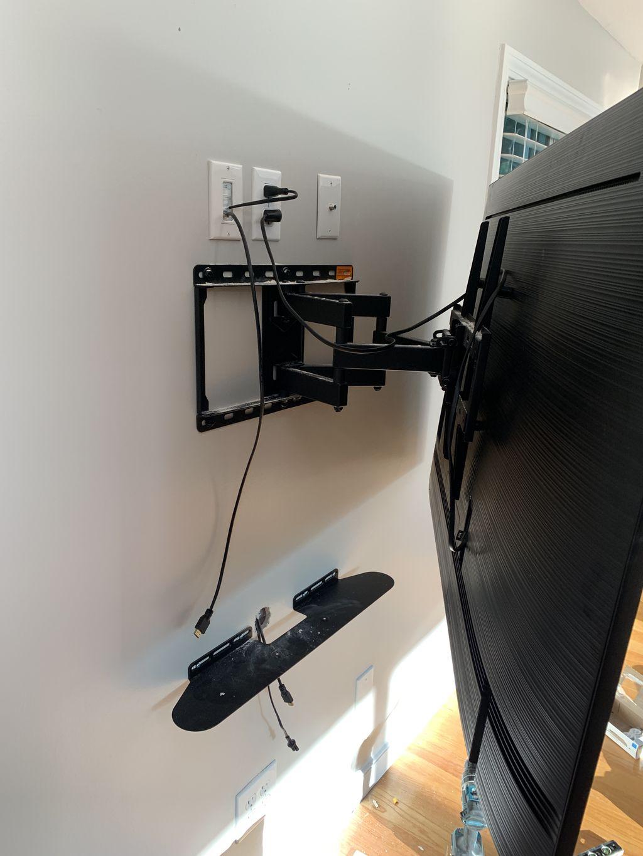Tv install with soundbar