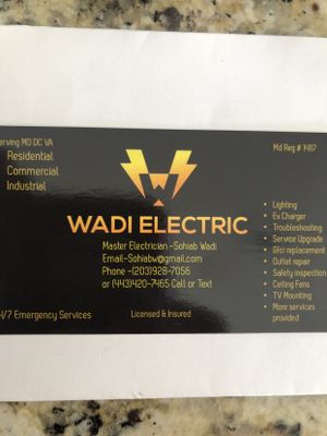 Avatar for Wadi Electric Co Ellicott City, MD Thumbtack