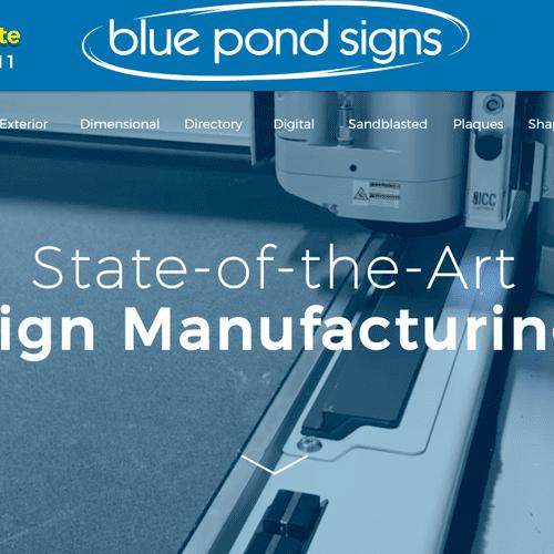 Bluepondsigns.com: Sign Manufacturing