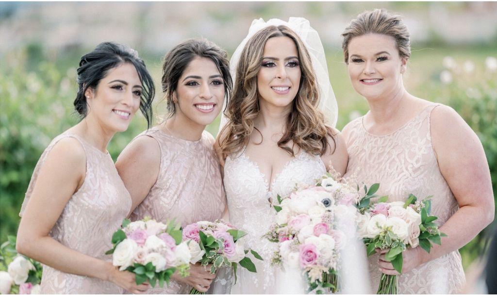 Bridal and bridesmaids