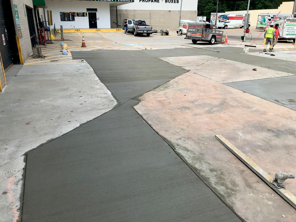 u-haul parking lot repair