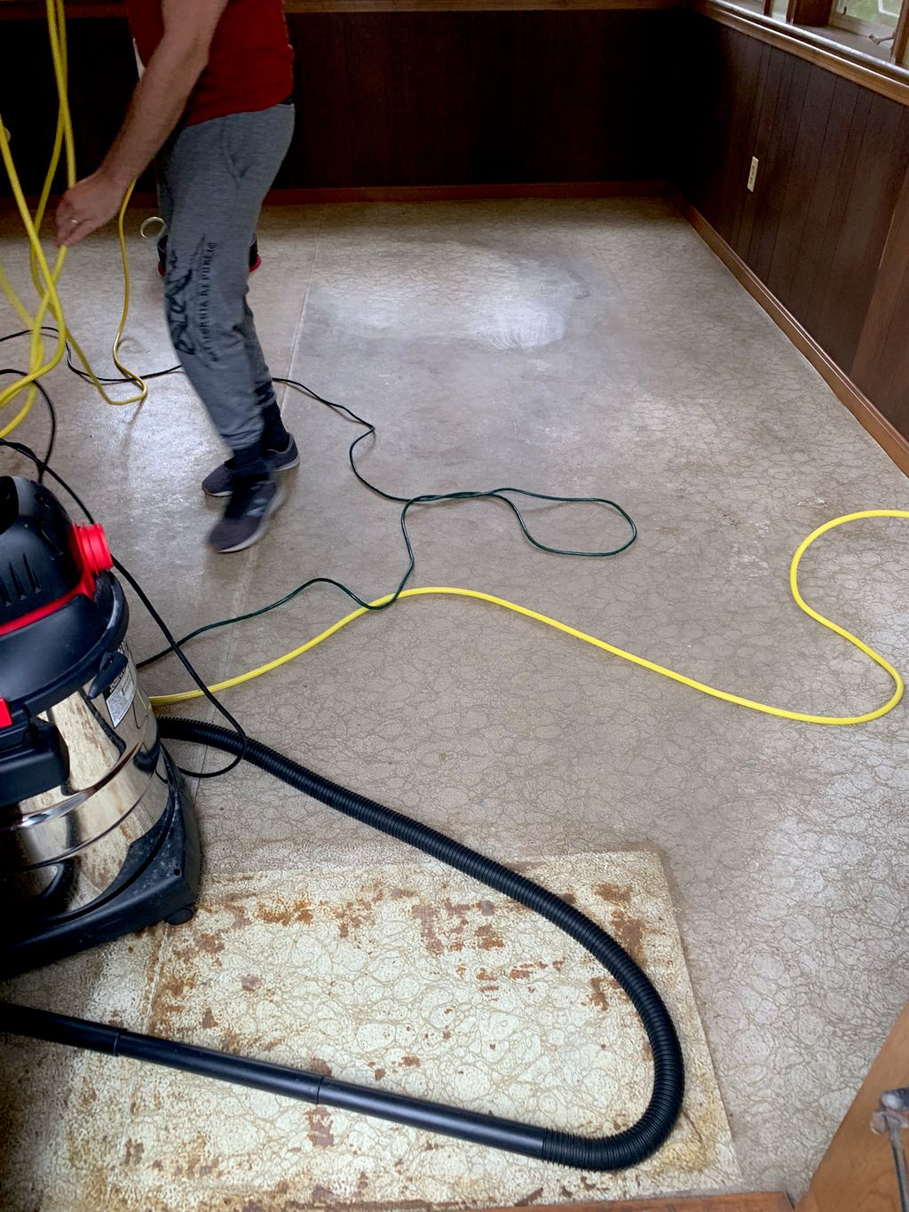Porch floor cleaning