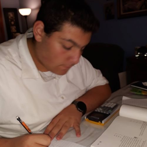 my student Josh working on a SAT problem. I'm showing him strategies to increase his speed and accuracy.