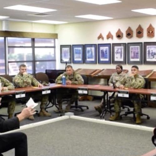 Caoching Instructors at the NCO Academy, Ft Lewis, WA
