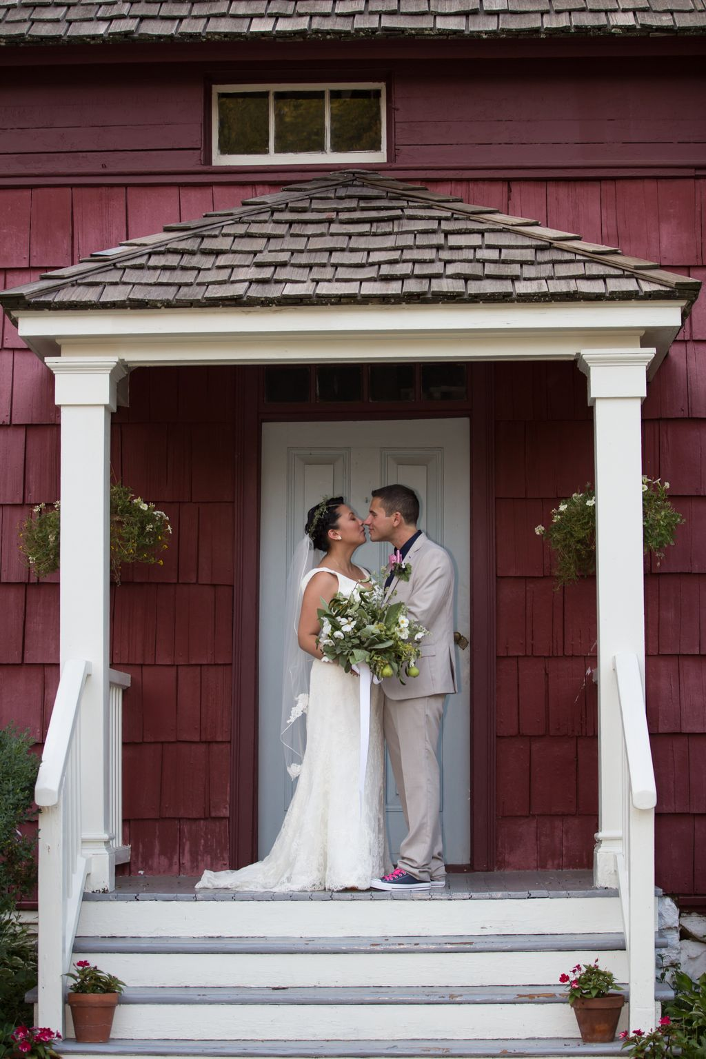 Farm Wedding with Engagement