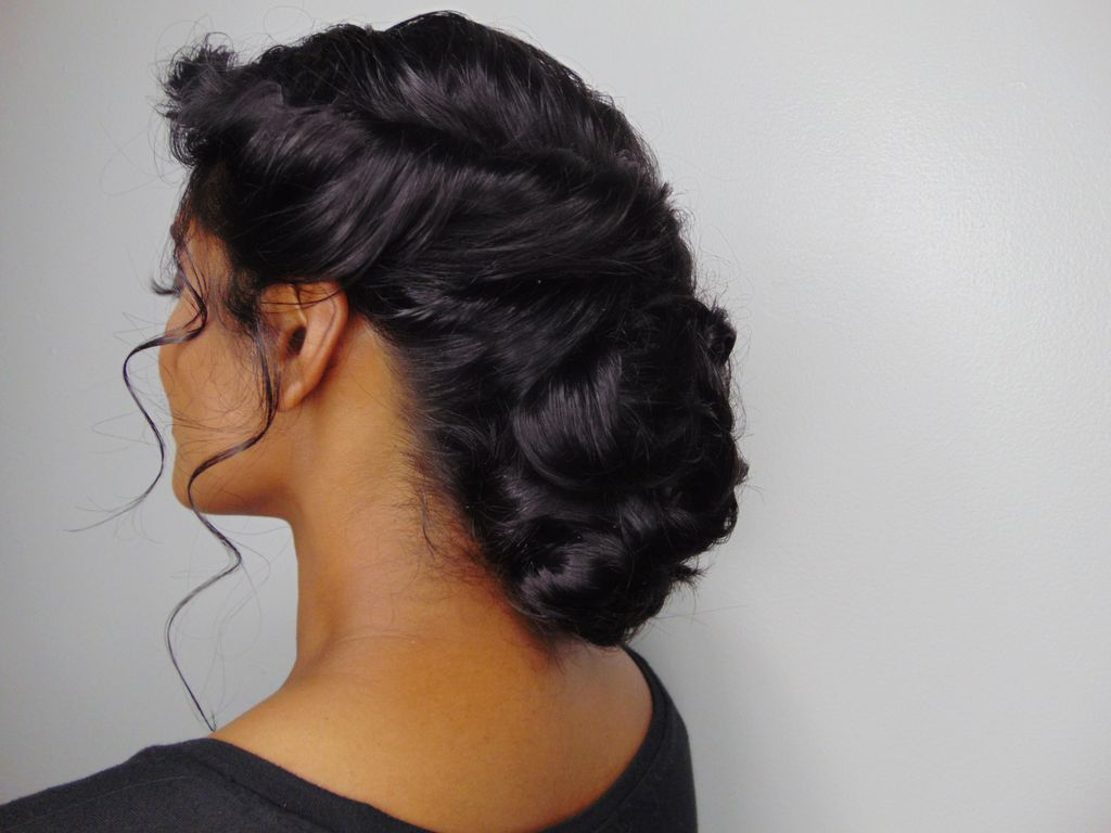 Twisted Updo with volume