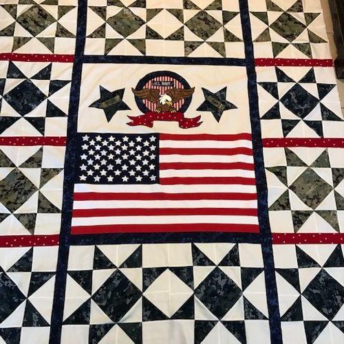 Navy Cammies quilt