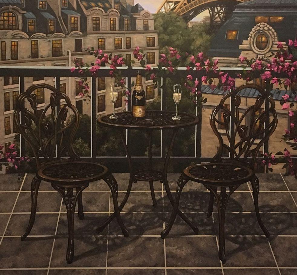 Paris Themed Mural in a Wine Cellar