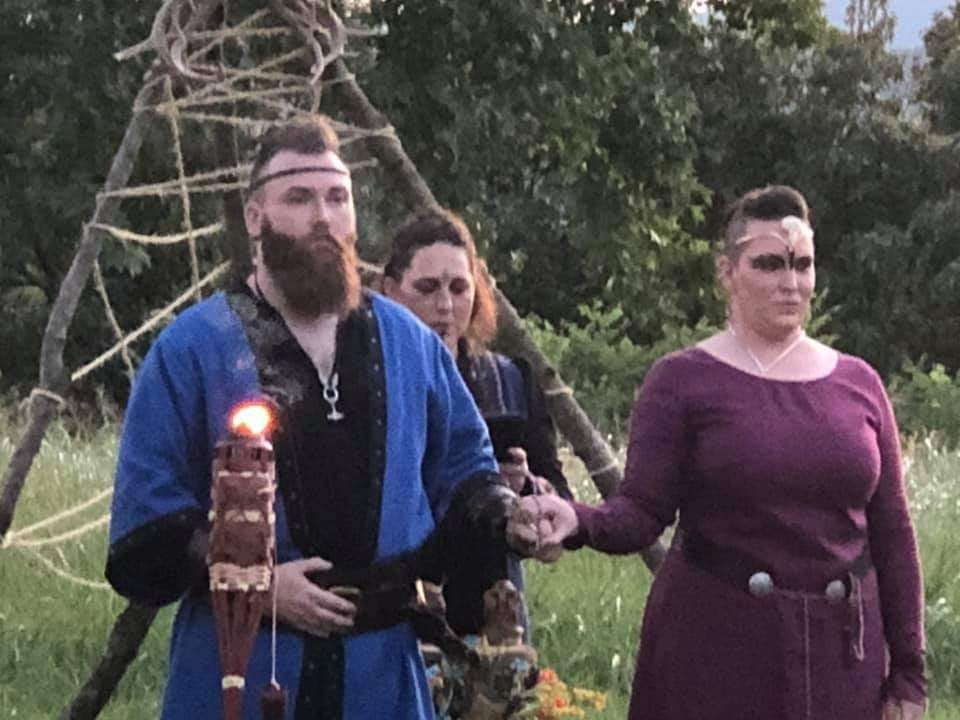 Custom Viking style wedding ceremony