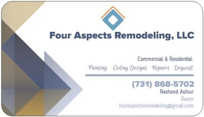 Avatar for 4 Aspects Remodeling and Painting,LLC Olive Branch, MS Thumbtack