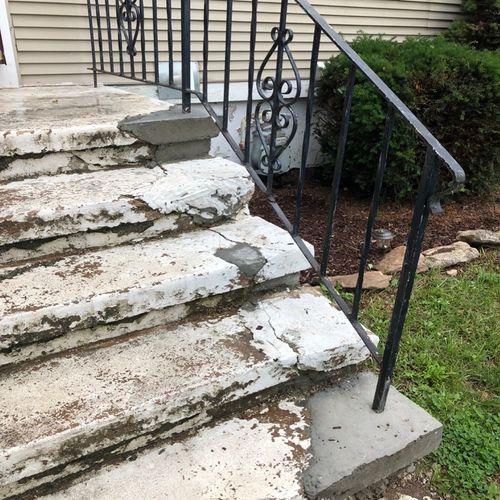 STAIRS IN NEED OF REPAIR